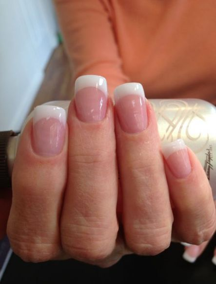 Nails Pink And White Acrylic Girly 23 Best Ideas White Tip Acrylic Nails French Tip Acrylic Nails French Tip Nails