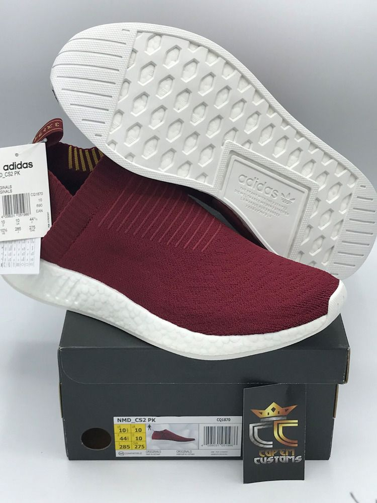 55c2f0ae1a9aa NEW Burgundy Limited Adidas NMD CS2 PK SNS Class of 99 CQ1870 MENS US Size  10.5  adidas  AthleticSneakers