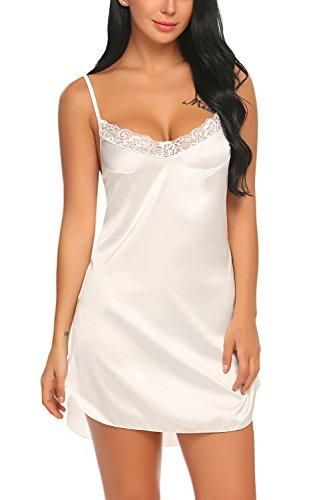 3c9eb4c264c Women's Nightwear Sexy Satin Sleepwear Lace Chemises Mini Full Slip ...