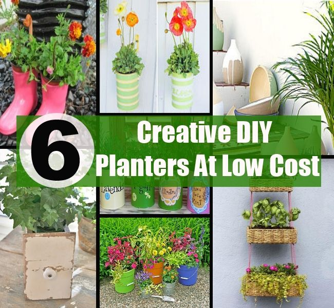 6 Creative DIY Planters At Low Or No Cost   Every Healthy