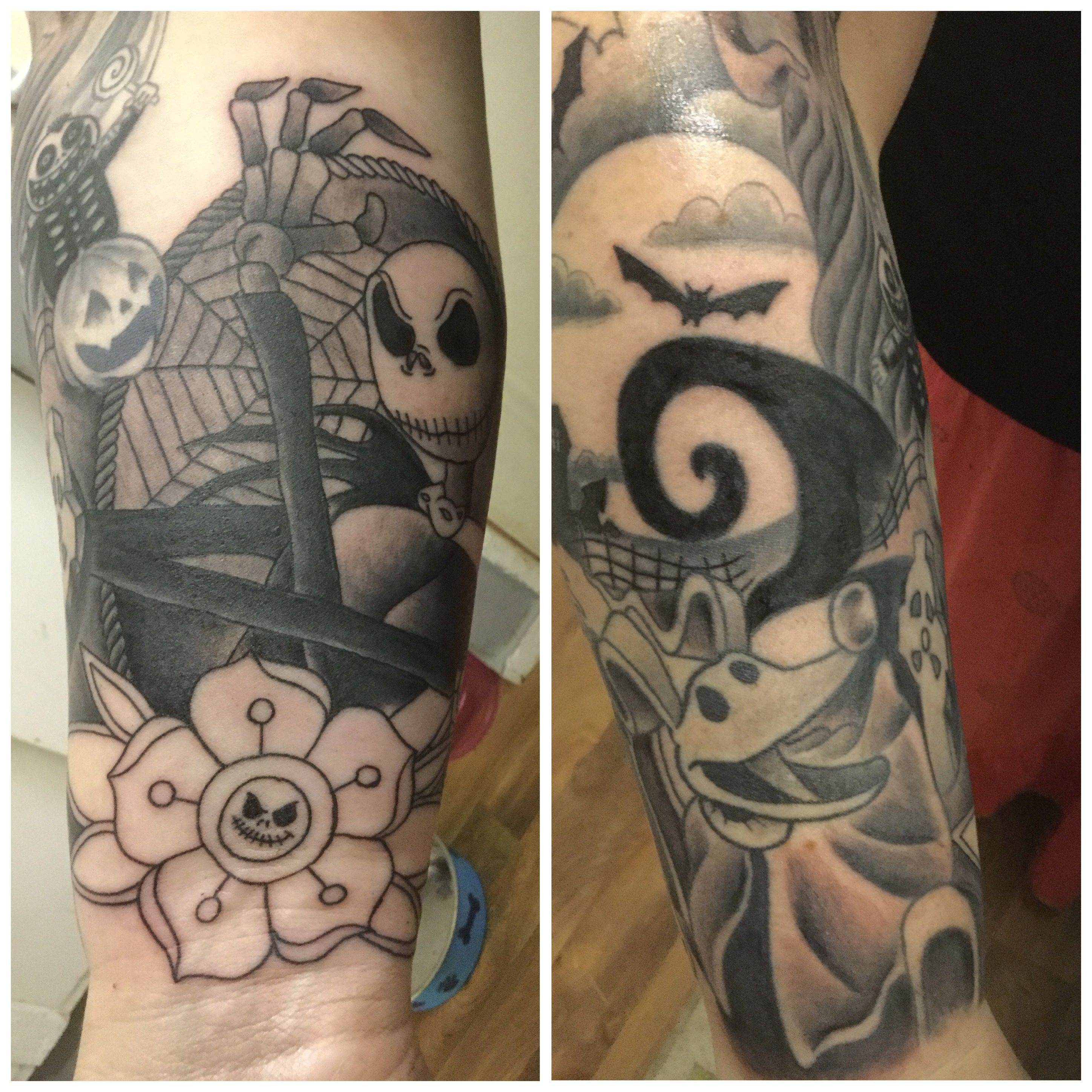 My nightmare before Christmas sleeve is nearly finished... | PUMPKIN ...