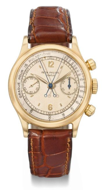 \ Patek Philippe Split Seconds Chronograph | Sold at 1.1 MIL at Christie's 2010 Watch Sale. It was originally made in 1943 and this version is the upgraded version with a round gold case.