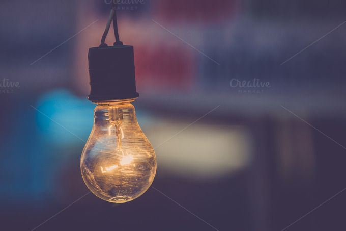 Unique Old light bulb by Pushish on creativemarket Beautiful - Unique electric light bulb For Your Home