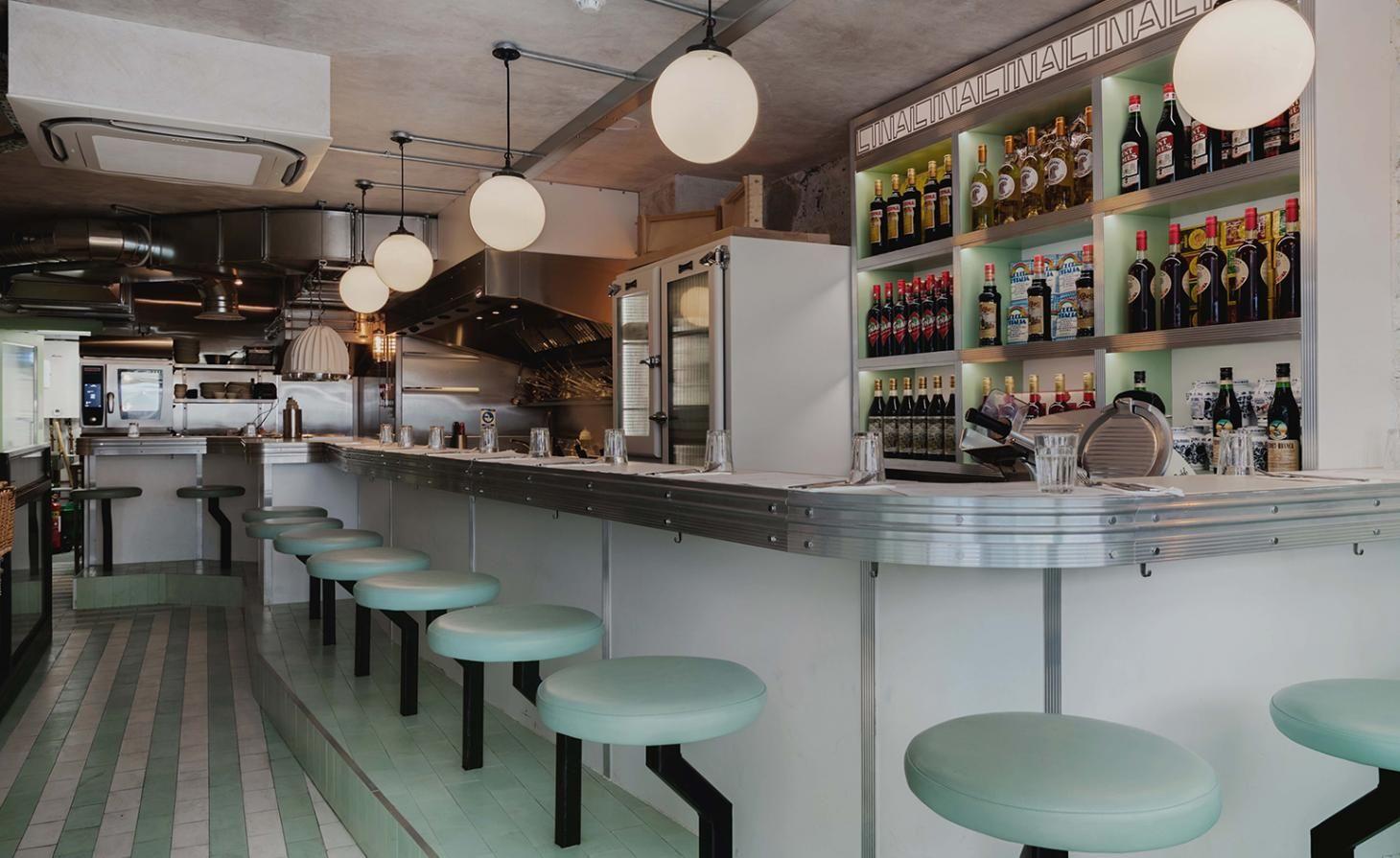 Lina Stores — London, UK Bar restaurant interior