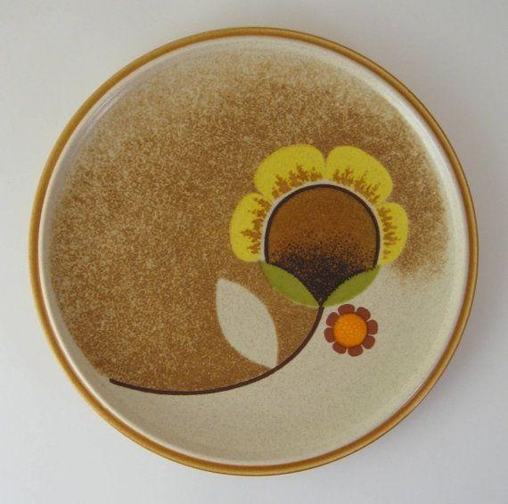 i heart it. Vintage PlatesRetro VintageBrown FlowersMorning SunMikasaDinner ... & Vintage Dinner Plate Mikasa Morning Sun Brown Flower Plate ...