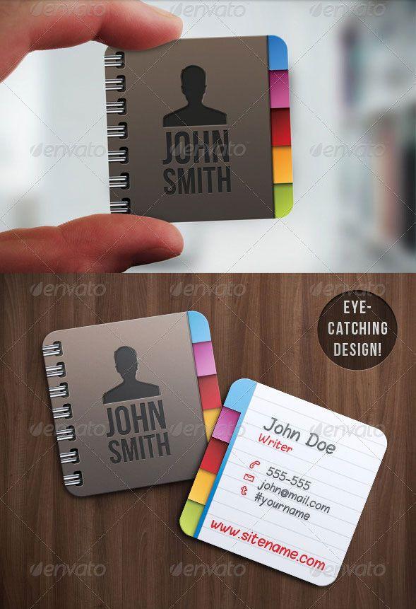 30+ Creative and Unique Mini Square Business Cards Design | Creative ...