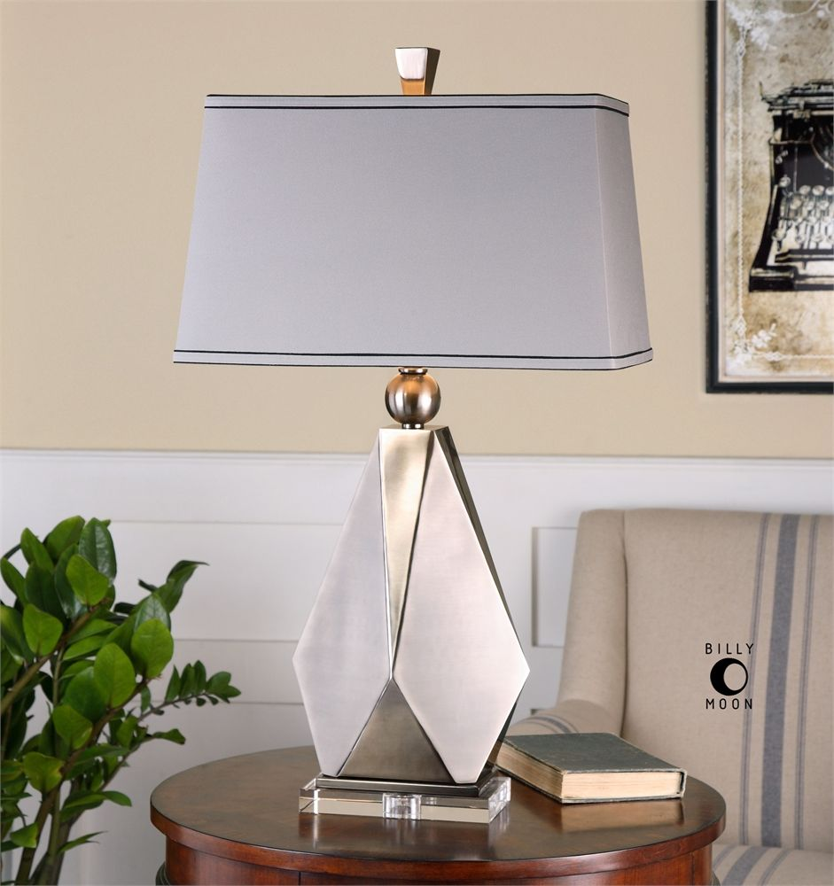 Uttermost Taburno Brushed Nickel Table Lamp Nickel table