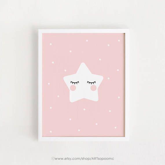 Print download - Star Dream Big little one Moon Printable Nursery