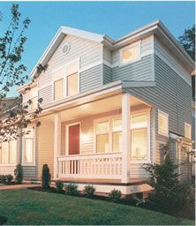 Energy efficient replacement double hung windows.