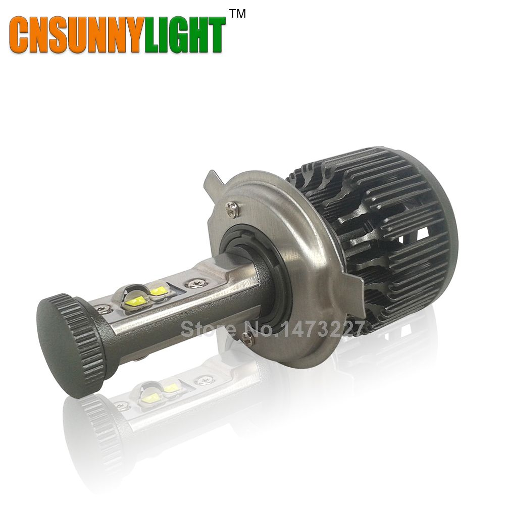 CNSUNNYLIGHT H4 LED Moto Ampoule de Phare 4000LM 40 W Salut Lo Kit