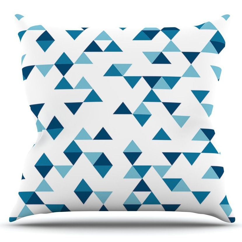Triangles by Project M Outdoor Throw Pillow