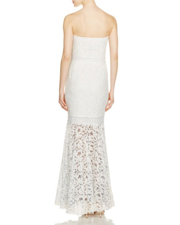 Tadashi Shoji Strapless Lace Gown - 100% Bloomingdale\'s Exclusive ...