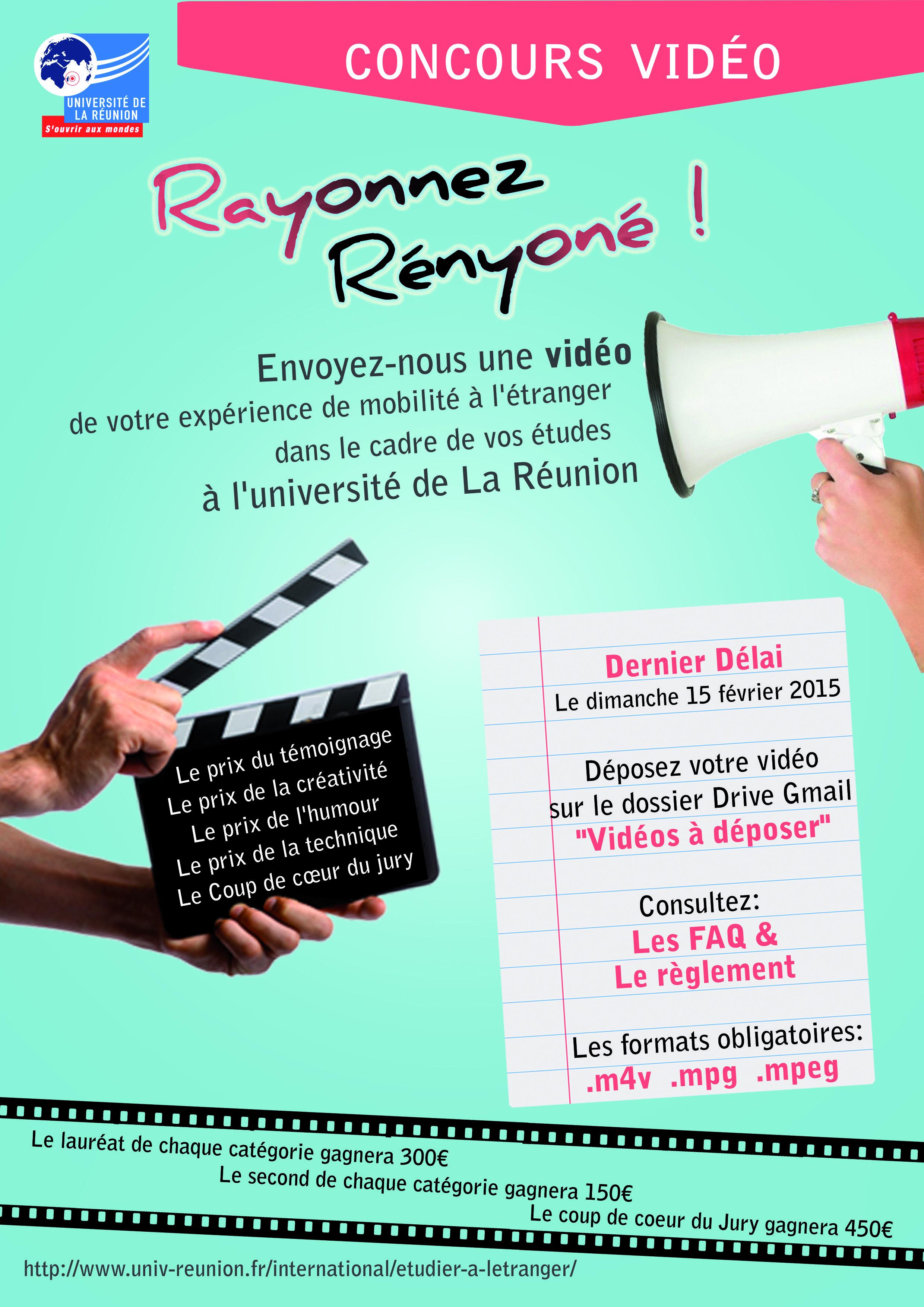 Video contest Poster Universite de La Reunion