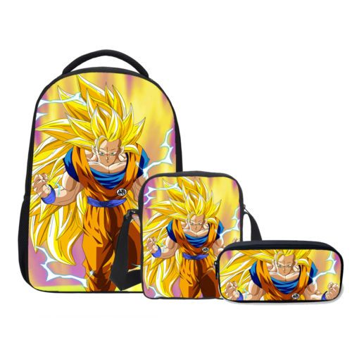 dragon ball z anime shoulder backpack book bag school bag w pen case wholesale