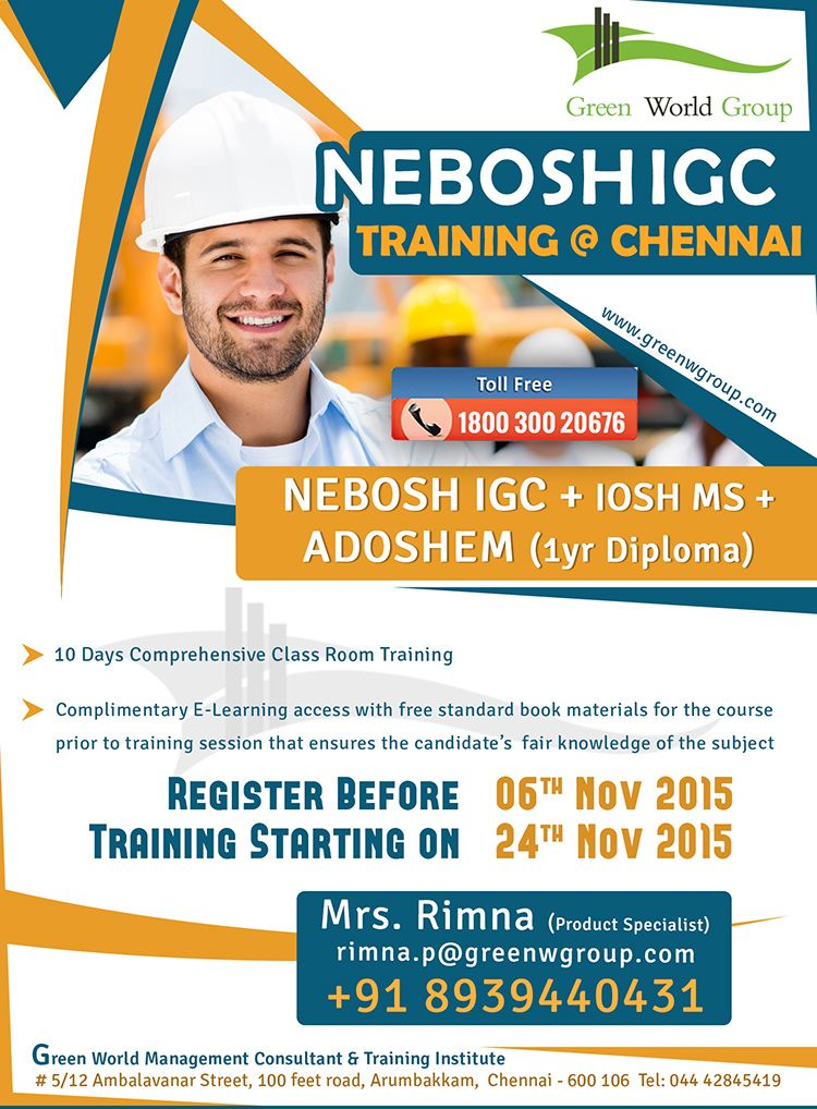Pin By Green World Group On Nebosh Course In Chennai Pinterest