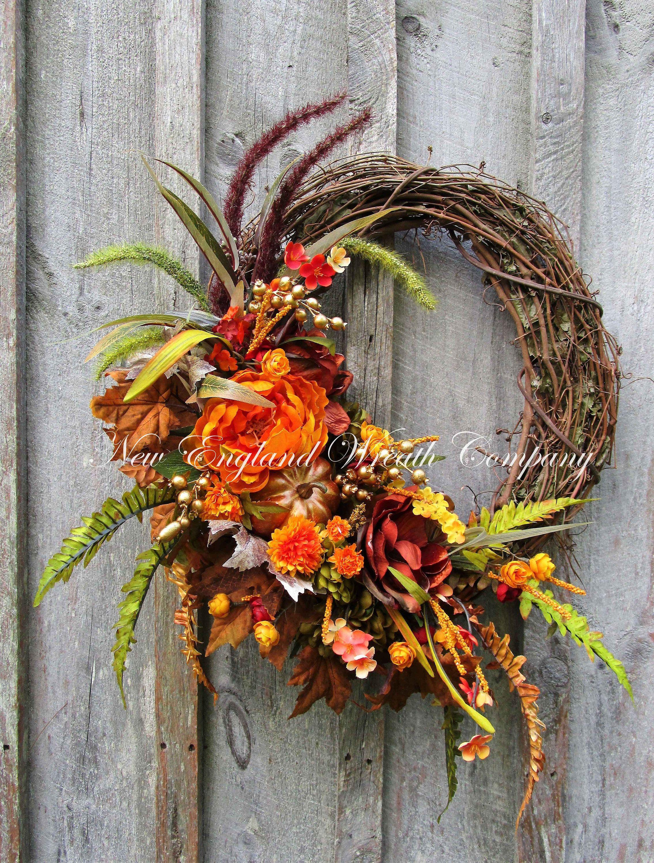 Eastham Autumn Garden Wreath A New England Wreath pany Designer