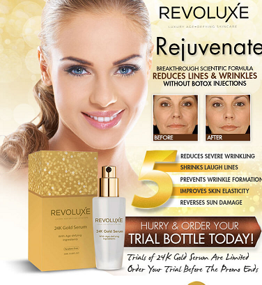 revoluxe 24k gold serum is an effective and safe skin care serum created by skin care companies. Black Bedroom Furniture Sets. Home Design Ideas