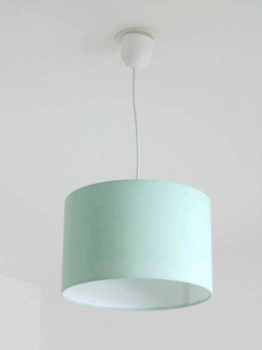 Lustre suspension plafonnier vert pastel scandinave abat
