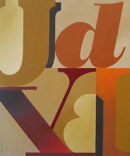"""Equilibrio"" 73x60 cm | Acrylic on canvas (Javier Pavón, exposición Arquetipos, 2012) #art #type #typography #arte"