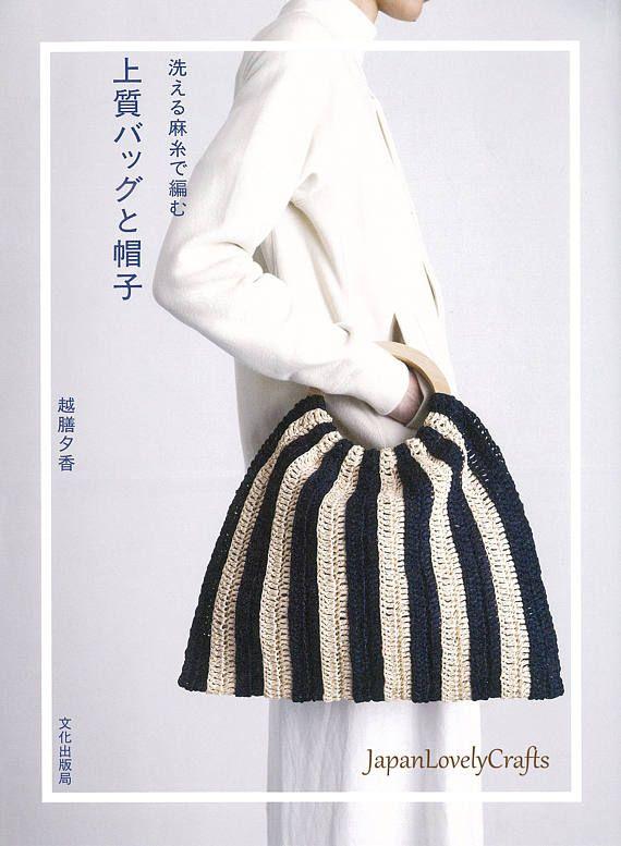 Japanese Mode Style Hemp Line Yarn Bag Hat Cap Patterns Simple