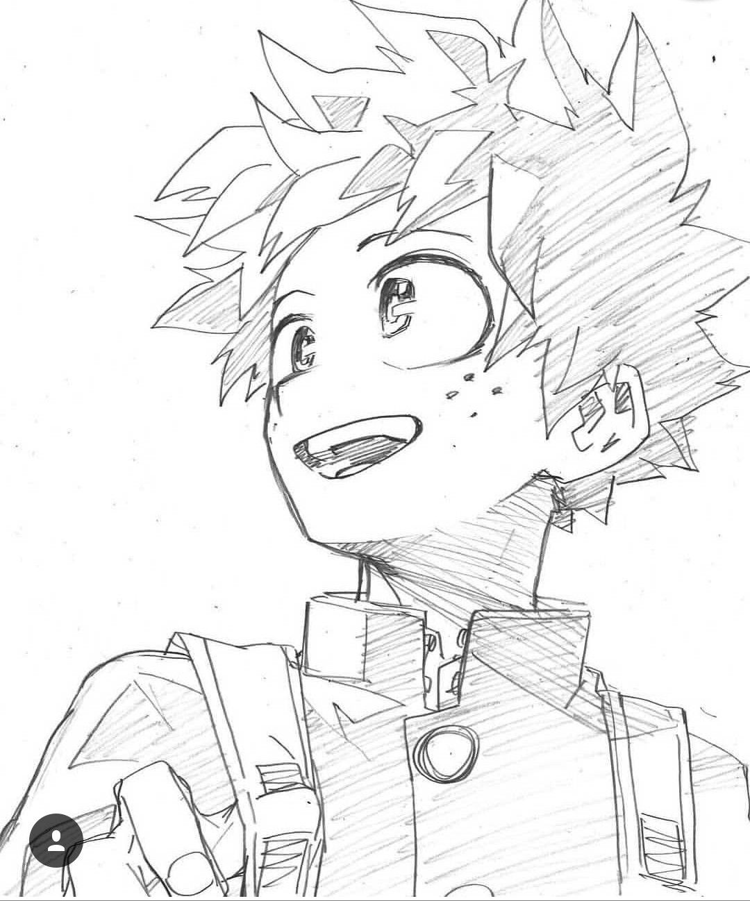 Drawing Deku Bnha Anime Sketch Anime Drawings My Hero