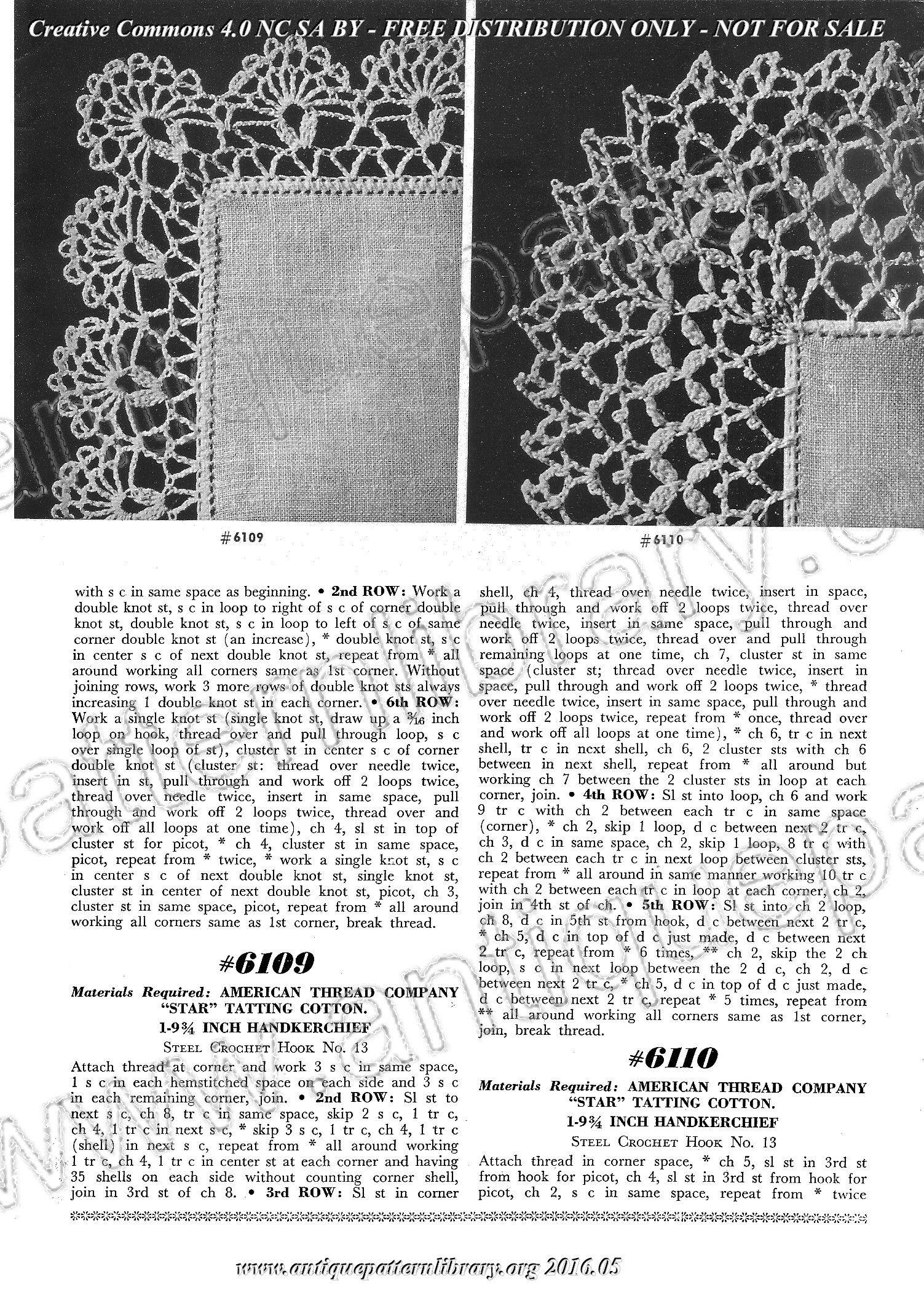 Star Book Nr 61 - Crochet Lace Handkerchief Edgings ~~ Antique ...