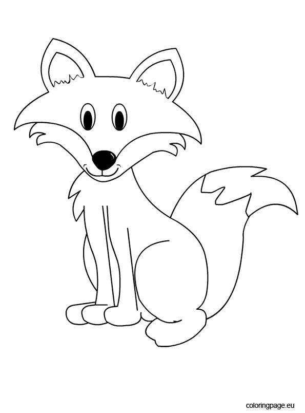 Fox Coloring Sheet Fox Coloring Page Animal Coloring Pages