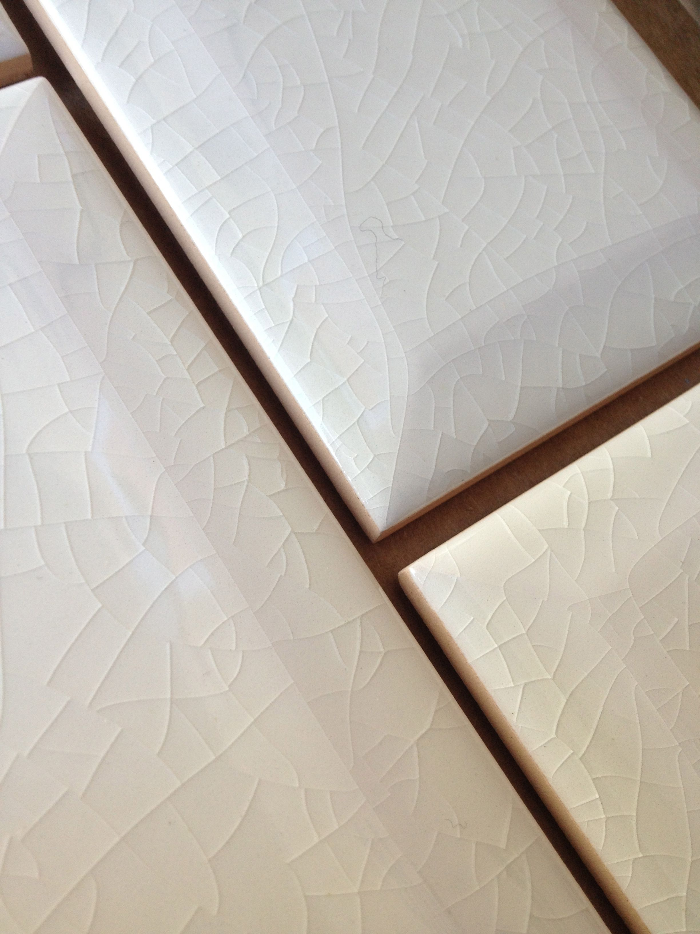 Subway Tile For The Backsplash Has A Delicate Crackle Finish