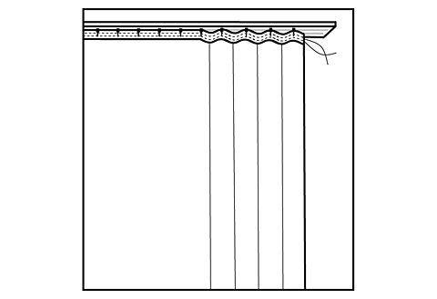 Vorhang nach Maß »Chloé«, , Faltenband (1 Stück)