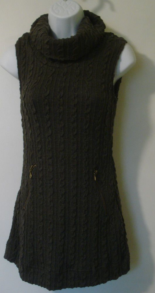 Nwt Mine Too Cable Knit Sleeveless Sweater Dress Size Small New