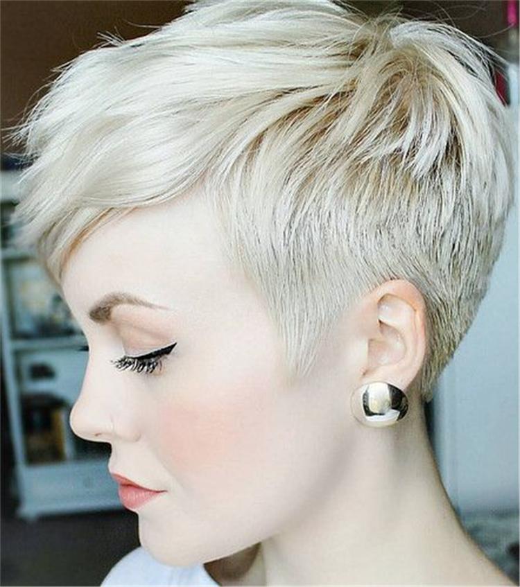 16++ Short platinum pixie cut trends
