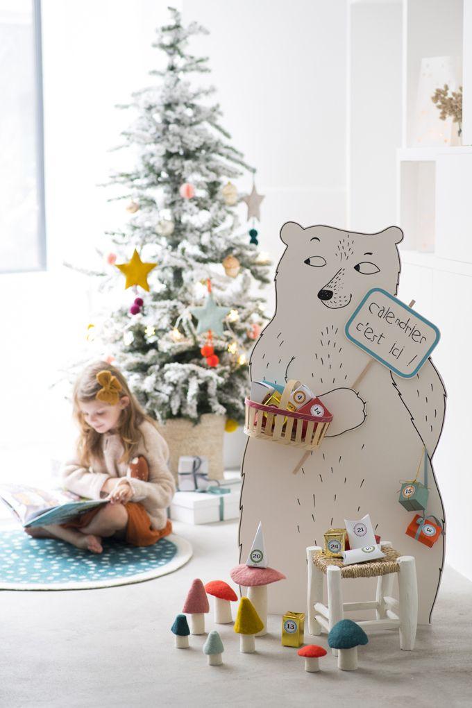 fabriquer un calendrier de l 39 avent en forme d 39 ours g ant no l christmas calendrier de l. Black Bedroom Furniture Sets. Home Design Ideas