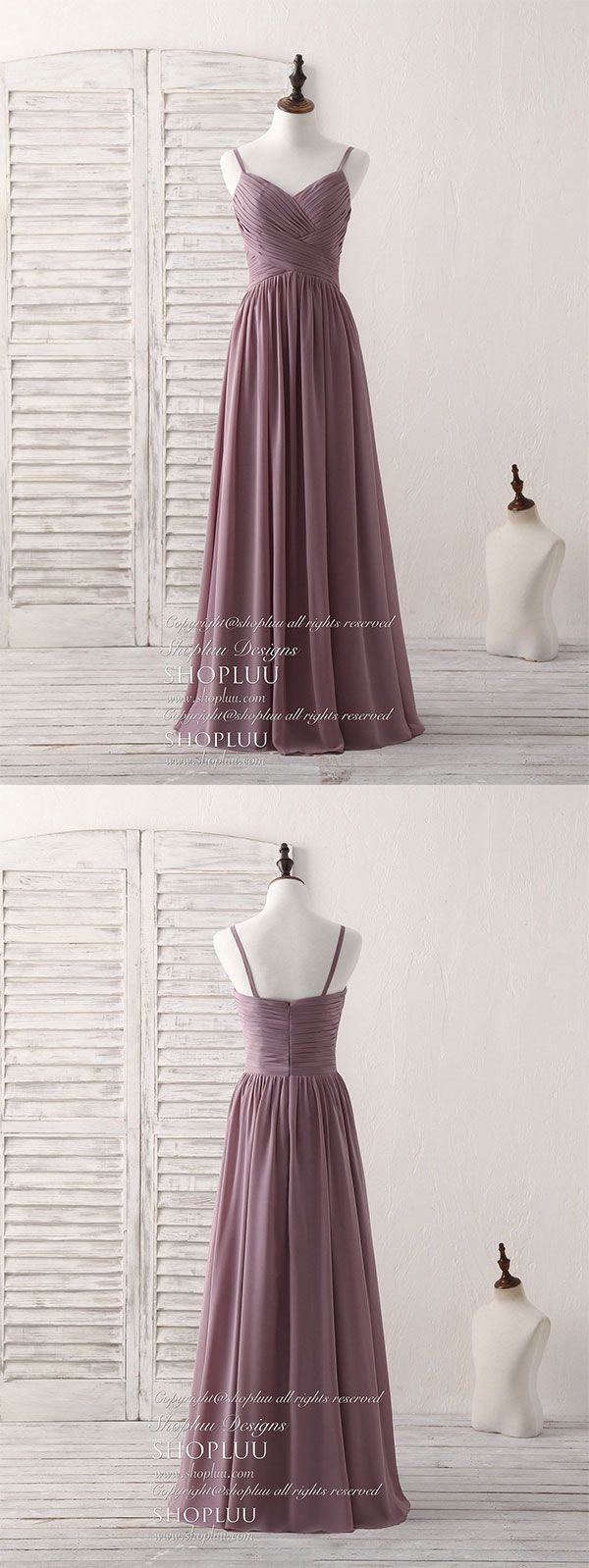 Wedding dress restoration  Simple v neck chiffon long prom dress dark pink bridesmaid dress