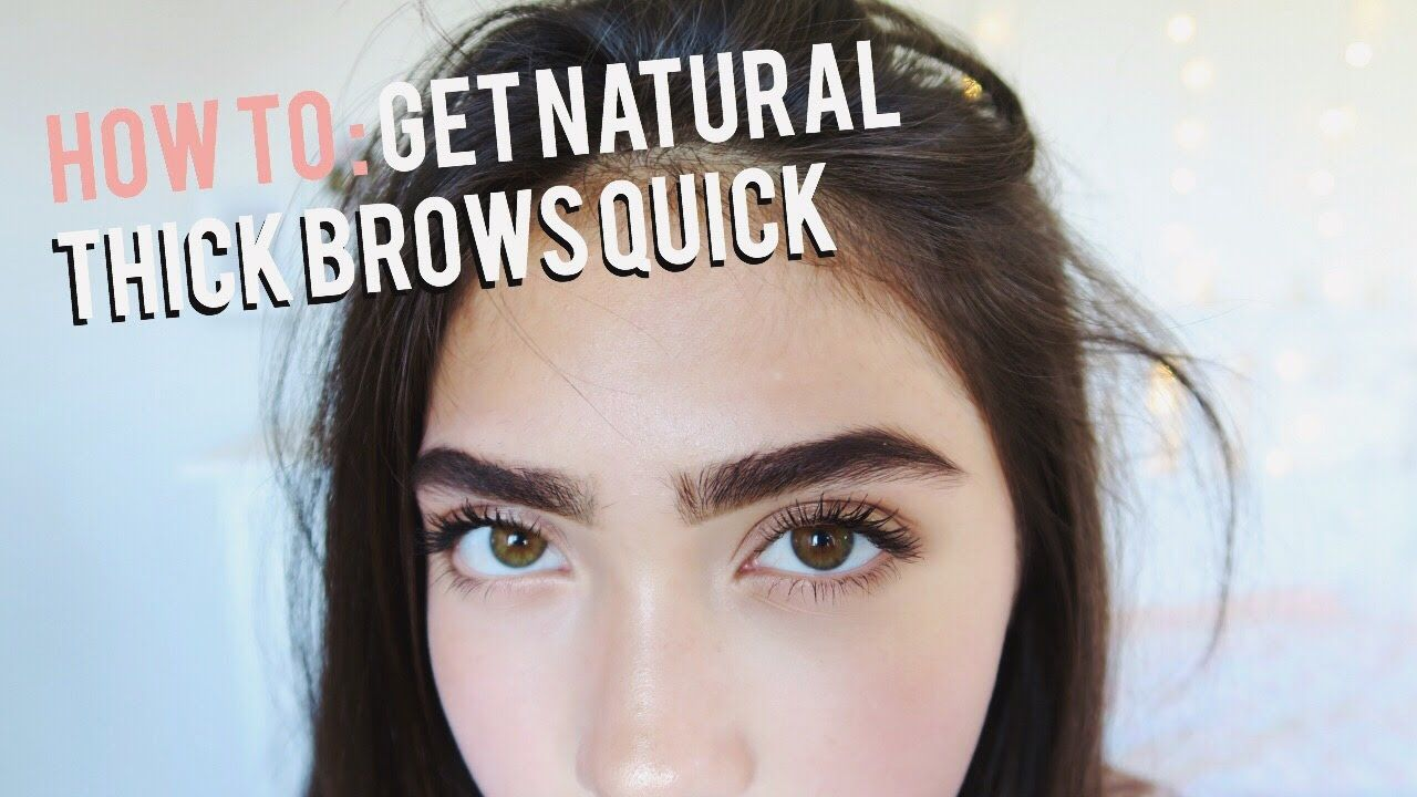 How To Grow Eyebrows Fast Thick Natural Youtube Beauty Tips