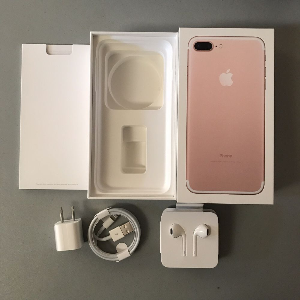 Iphone 7 Plus 256g Rose Gold Box With Accessories No Phone Headphones Cable Usb Apple Iphone 7 Plus Iphone 7 Iphone 8 Rose Gold