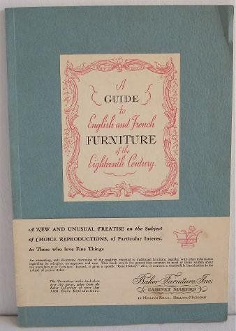 Fast Deliver Rare 1940 Guide To English French Furniture Of The 18th Century Baker Furniture Books