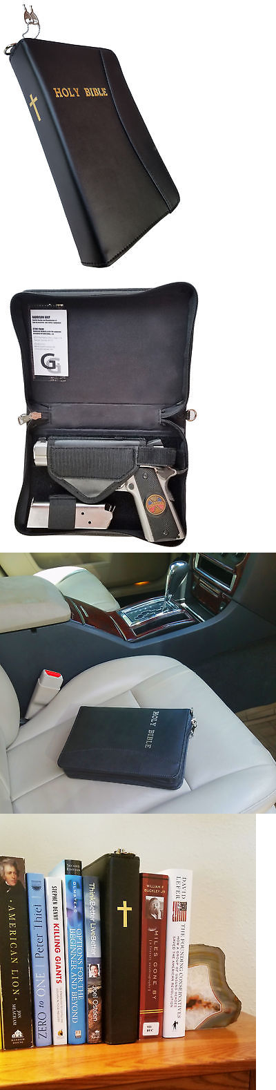 Cases 73938 Leather Concealed Carry Or Bookshelf Bible Gun
