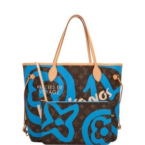 c64d2e303027 Louis Vuitton Neverfull Monogram Tahitienne Mykonos Mm Blue Canvas Tote -  Tradesy