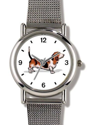 Basset Hound Dog - WATCHBUDDY® ELITE Chrome-Plated Metal Alloy Watch with Metal Mesh Strap-Size-Small ( Children's Size - Boy's Size & Girl's Size ) WatchBuddy. $79.95. Save 37% Off!