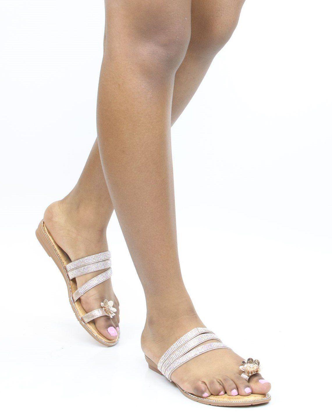 Flower Toe Ring Sandal Silver | Toe ring sandals, Toe
