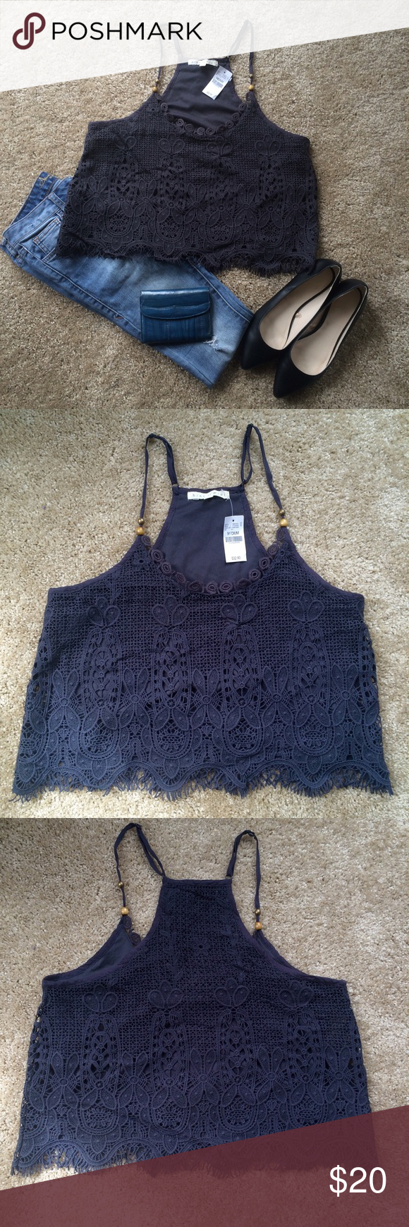 Ash Crochet Camisole Ash Crochet Camisole. Size M. Never worn with tags Wet Seal Tops Camisoles