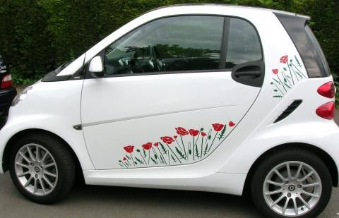Hippy Motors Smart Poppy Field Special Pretty Decals For The Car - Vinyl transfers for cars