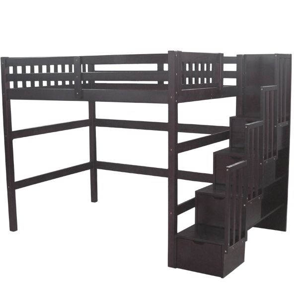 loft bed with couch underneath with steps for adults google search future parent loft bed. Black Bedroom Furniture Sets. Home Design Ideas