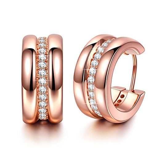 Pefect Couple Hypoallergenic Rose Gold Plated EarringsMore info for