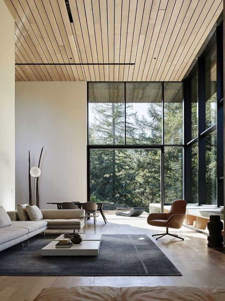 Beautiful big open space and windows | Contemporary home ...