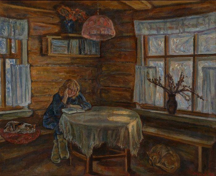 Книги и чтение в живописи: Silence - Andrew Tutunov Тишина - Андрей Тутунов