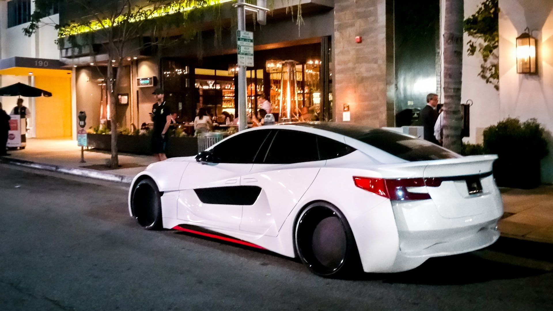 Will insane custom wide body tesla s in beverly for Am motors used cars