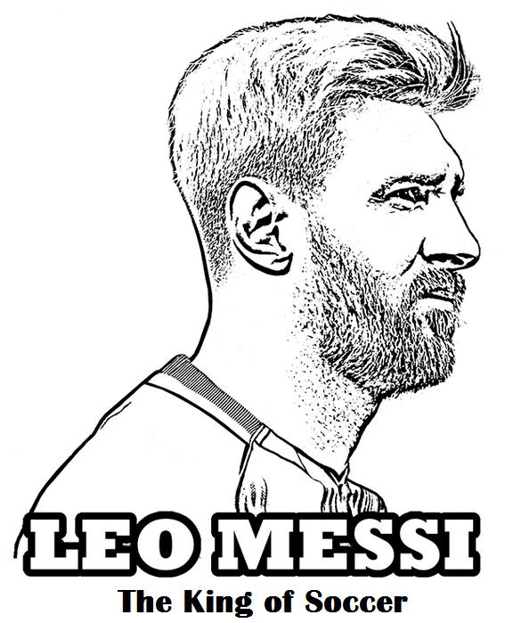 Messi The King Of Football Soccer Coloring Page Futbol Para Colorear Dibujos De Futbol Messi Dibujo