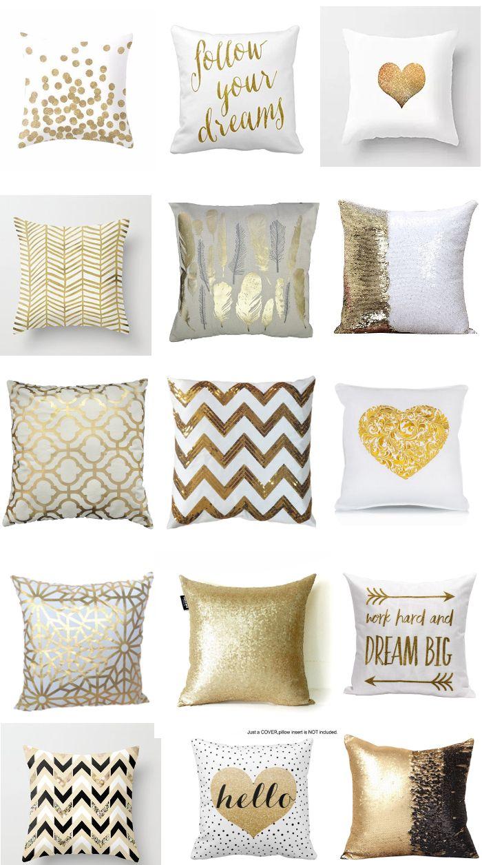 30 Fabulous Gold Pillows for Every Budget! - Anika's DIY Life