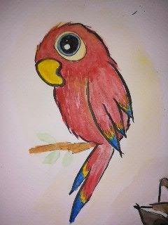 Papagei Aquarell Papagei Zeichnung Tiere Malen Papagei